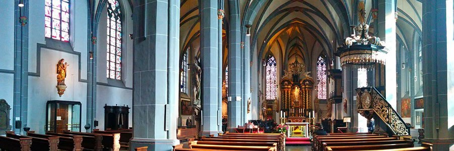 Lambertus Church close to the apartment hotels in Dusseldorf