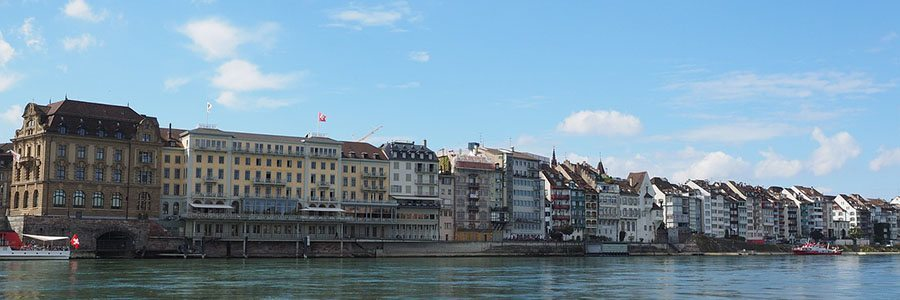 apartment hotels in Basel view from the river Rhine